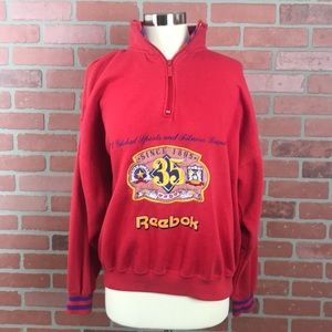 Vintage Reebok Red & Purple Pullover zipper Jacket